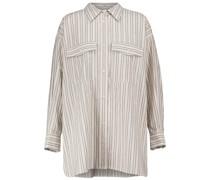 Gestreiftes Hemd Ajady aus Baumwolle