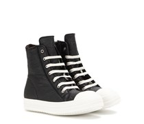 High-Top-Sneakers aus Leder und Shearling