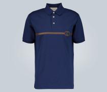 Besticktes Oversize-Poloshirt