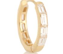 Einzelner Ohrring Invisible Baguette Diamond aus 18kt Gold
