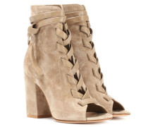 Exclusive to mytheresa.com – Brooklyn open-toe suede ankle boots