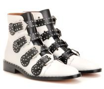 Verzierte Ankle Boots Elegant aus Leder