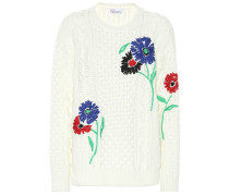 Bestickter Pullover aus Baumwolle
