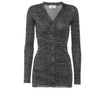 Cardigan aus Metallic-Strick