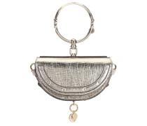 Tasche Nile Minaudière aus Metallic-Leder