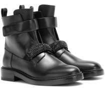 Verzierte Ankle Boots aus Leder