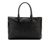 Intrecciato-Tasche Brick aus Leder