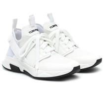 Sneakers aus Mesh und Leder