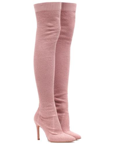 Overknee-Stiefel Fiona 105 aus Bouclé