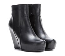 Wedge-Booties Classic aus Leder