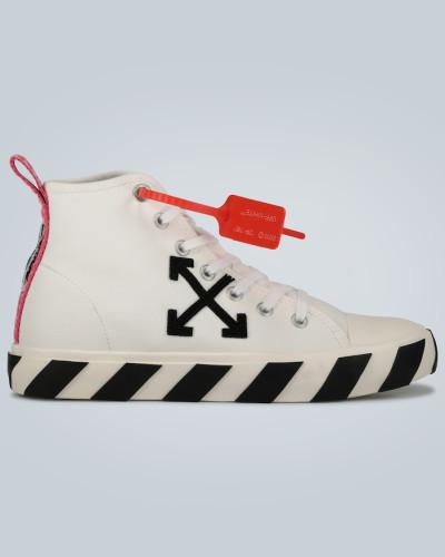 Mid-Top Sneakers aus Leder