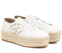 Espadrille-Sneakers aus Leder