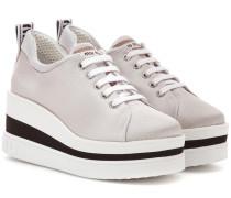 Plateau-Sneakers aus Nylon