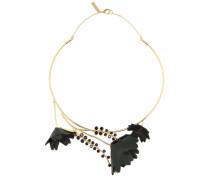 Halskette mit Leder