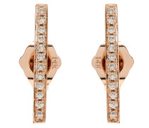 Ohrringe Medium Bar aus 14kt Roségold mit weißen Diamanten