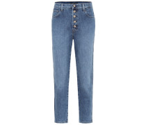 High-Rise Straight Jeans Heather
