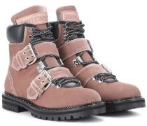 Ankle Boots Breeze Flat aus Samt