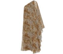 One-Shoulder-Kleid aus bedruckter Seide