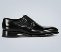 Monkstrap-Loafers aus Leder