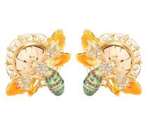 Clip-Ohrringe mit Kristallsteinen