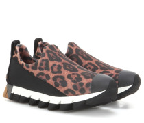Slip-ons mit Leopardenprint