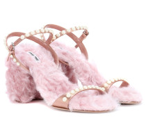 Sandalen mit Faux Fur
