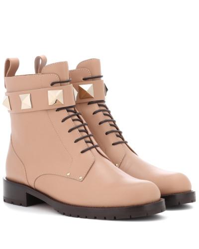 Viele Farben Valentino Damen Garavani Ankle Boots aus Leder Mit Paypal Zahlen Online Perfekte Online grjc3Sfl
