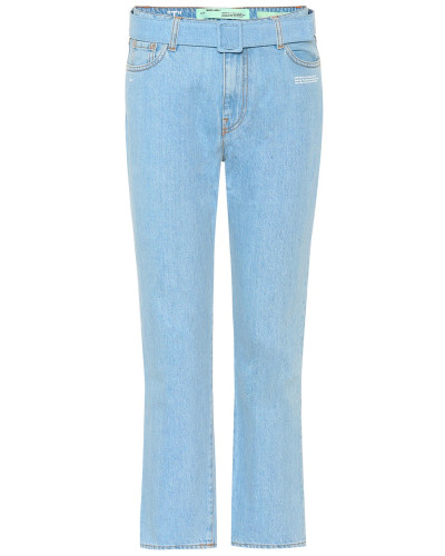 Cropped Jeans aus Baumwolle