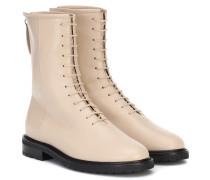 Ankle Boots Combat aus Leder