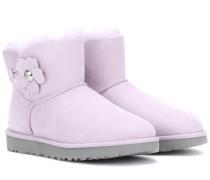 Mini Bailey Poppy Boots aus Veloursleder