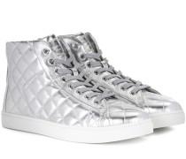 Exklusiv bei mytheresa.com – Sneakers High Driver aus Metallic-Leder