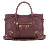 Schultertasche Classic Metallic Edge Small City aus Leder