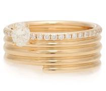 Ring Blast aus 18kt Roségold mit Diamanten