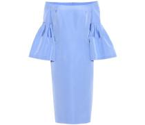 Off-the-shoulder silk dress