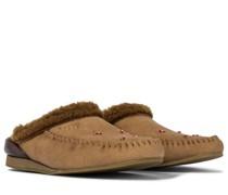 Slippers aus Veloursleder