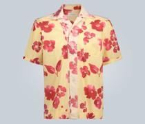 Oversized-T-Shirt mit Blumen-Print