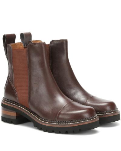 Chelsea Boots Mallory aus Leder