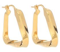 Vergoldete Creolen aus Silber
