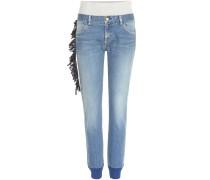 Jeans mit Strickbündchen