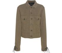 Jacke aus einem Woll-Leinengemisch