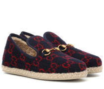 Loafers GG aus Wolle