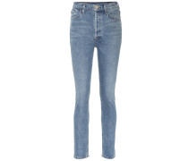 High-Rise Slim Straight Jeans