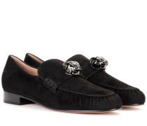 Garavani Verzierte Loafers aus Veloursleder