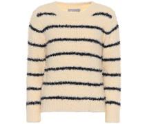 Gestreifter Pullover mit Baumwolle und Leinen