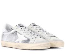 Sneakers Superstar aus Metallic-Leder