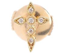 Ohrring Céleste aus Gelbgold mit Diamanten