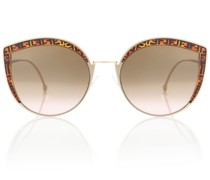 Cat-Eye-Sonnenbrille FF aus Acetat