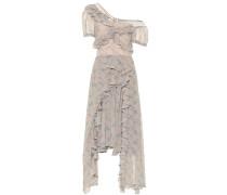 One-Shoulder-Kleid aus Crêpe