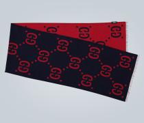 Jacquard-Schal aus Wolle und Seide