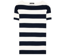 Gestreiftes T-Shirt aus Crêpe
